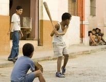 Gioco del baseball Fotografia Stock