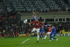 Gioco del calcio 2009 migliore 30Players - Wayne Rooney della Francia Fotografia Stock