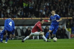 Gioco del calcio 2009 migliore 30Players - Wayne Rooney della Francia Immagini Stock Libere da Diritti