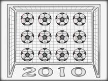 Gioco del calcio 2010 del calendario Immagine Stock Libera da Diritti