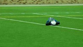gioco del calcio americano del campo Fotografia Stock