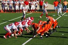 Gioco del calcio americano della High School Fotografie Stock