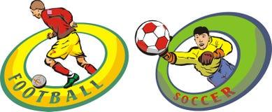 Gioco del calcio & calcio Immagine Stock