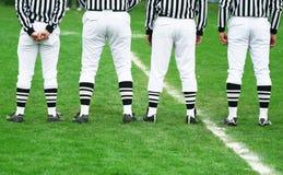 Gioco del calcio - arbitro di sport Fotografia Stock Libera da Diritti