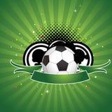 Gioco del calcio astratto Immagini Stock Libere da Diritti