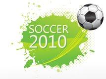 Gioco del calcio astratto con il testo di calcio Immagine Stock Libera da Diritti