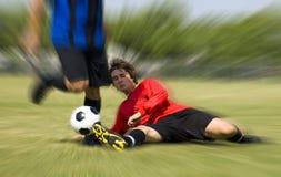 Gioco del calcio - calcio - attrezzatura! Fotografia Stock Libera da Diritti