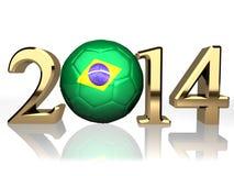 Gioco del calcio del Brasile Fotografia Stock Libera da Diritti