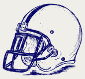 Gioco del calcio del casco royalty illustrazione gratis