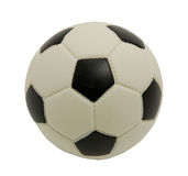 Gioco del calcio del giocattolo su una priorità bassa bianca. Foto. Fotografia Stock