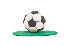 Gioco del calcio del Plasticine Fotografie Stock