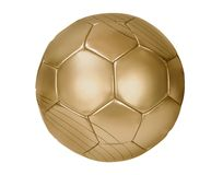 Gioco del calcio dell'oro Fotografia Stock