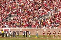 Gioco del calcio dell'università di Stato della Florida Fotografie Stock