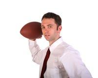 Gioco del calcio dell'uomo d'affari Immagini Stock