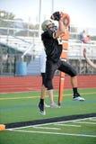 Gioco del calcio della High School Fotografie Stock