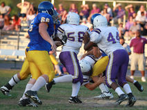 Gioco del calcio della sorgente della High School Fotografia Stock