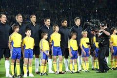 Gioco del calcio della squadra nazionale dell'Inghilterra Immagini Stock