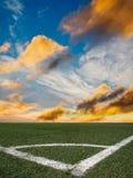 Gioco del calcio dello stadio Immagine Stock