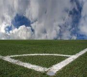 Gioco del calcio dello stadio Immagini Stock