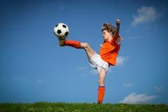 Gioco del calcio di calcio Fotografie Stock