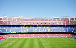 Gioco del calcio di FC Barcellona (accampamento di Nou) Immagine Stock