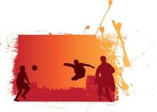 Gioco del calcio di Grunge Fotografia Stock Libera da Diritti
