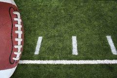 Gioco del calcio e campo Fotografia Stock Libera da Diritti