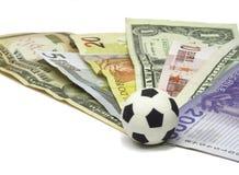 Gioco del calcio e soldi Immagine Stock Libera da Diritti