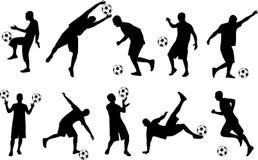 Gioco del calcio-giocatore Immagine Stock Libera da Diritti