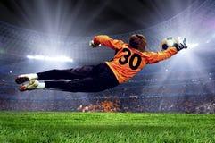 Gioco del calcio goalman Fotografia Stock
