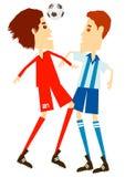 Gioco del calcio o calcio Fotografia Stock Libera da Diritti