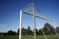 Gioco del calcio/obiettivo e rete di calcio immagine stock
