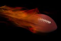 Gioco del calcio su fuoco Fotografia Stock Libera da Diritti