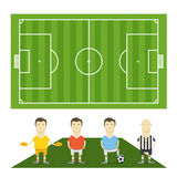 Gioco del calcio verde field Immagine Stock Libera da Diritti