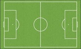 Gioco del calcio verde field Fotografia Stock Libera da Diritti