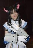 Gioco del costume di Cosplay fotografie stock