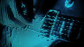 Gioco del fondo blu V2 di moto dell'estratto della chitarra delle particelle video d archivio