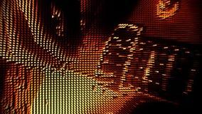 Gioco del fondo V2 di moto dell'estratto della chitarra delle particelle dell'oro stock footage
