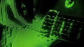 Gioco del fondo verde V2 di moto dell'estratto della chitarra delle particelle video d archivio