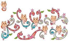 Gioco del gatto variopinto royalty illustrazione gratis