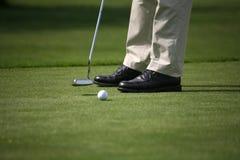 Gioco del golf Fotografie Stock