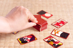 Gioco del Hanafuda Fotografia Stock