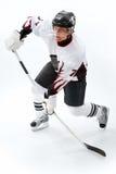 Gioco del hokey di ghiaccio Fotografia Stock