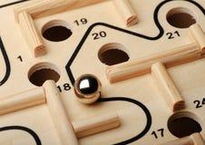 Gioco del labirinto fotografie stock