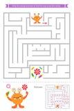 Gioco del labirinto con i mostri svegli Fotografia Stock
