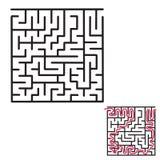 Gioco del labirinto del ` s dei bambini immagini stock
