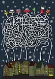 Gioco del labirinto di Natale Immagini Stock Libere da Diritti