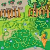 Gioco del labirinto per i bambini illustrazione vettoriale