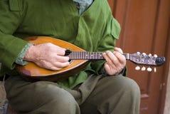 Gioco del mandolino Fotografia Stock Libera da Diritti