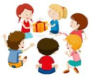 Gioco del presente del gioco di bambini royalty illustrazione gratis